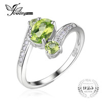 Ювелирные изделия Wholesale- JewelryPalace 1.1ct Green Peridot 3 Stone Anniversary Ring для женщин Реальный подарок Vantage Sterling Silver 925