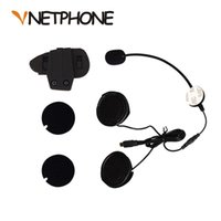 Wholesale usb microphone clip - Wholesale- 2016 Real Casco Mini Usb Jack Microphone Speaker Headset And Helmet Intercom Clip for Motorcycle Bluetooth Device Vnetphone V8