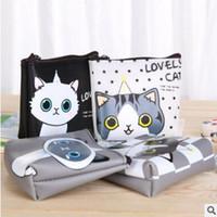 Wholesale Jelly Coin Purse Free Shipping - Womens wallets cat Princess cute Korean creative hand bag waterproof jelly zero wallet bag free shipping