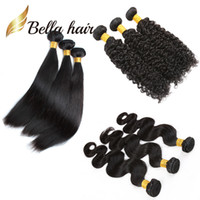 Wholesale cheapest human hair weaves - 3pcs lot Donored Brazilian Hair Extensions Straight Body Wave Curly 3 bundles 100% Human Hair 12-24inch Cheapest Bellahair