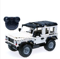 ingrosso assemblaggio di mattoni-New Hummer RC Tiger Car Building Blocks Ricarica Giocattoli di controllo remoto per ragazzi Bambini Educational Assembly Toy Gift Bricks