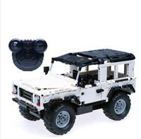 coches de juguete de montaje al por mayor-Nuevos bloques de construcción del coche del tigre de Hummer RC que cargan los juguetes teledirigidos para los niños de los niños de la asamblea educativa del juguete de los ladrillos del regalo