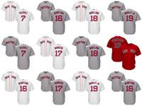 Wholesale Andrew Christian L - Boston Red Sox Jerseys 19 Jackie Bradley Jr. 18 Mitch Moreland 16 Andrew Benintendi 17 Deven Marrero 7 Christian Vazquez Baseball Jerseys