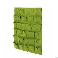 gemüse liefert großhandel-100x100 cm Wandbehang Pflanztaschen 36 Taschen Grün Wachsen Tasche Pflanzgefäß Vertikale Garten Gemüseleben Garten Tasche Haus liefert