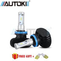 Wholesale Ford Headlamps - Free Shipping H11 LED Car Headlight C-REE CSP Chip 50W 6500K 8000lm Fog Light Bulb Auto Headlamp for Audi BMW Ford Toyota Honda