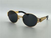uv kutuları toptan satış-Retro tasarım güneş gözlüğü yuvarlak metal çerçeve en kaliteli açık gözlük anti-Uv lens ve orijinal kutusu VE 2138