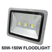 Wholesale Ac Led Green - 50W-150W Led floodlights high brightness red green blue yellow color LED flood lighting Landscape project lights waterproof AC 85-265V