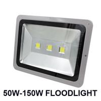 couleur de la lumière d'inondation vert achat en gros de-50W-150W Led projecteurs haute luminosité rouge vert bleu jaune couleur LED éclairage d'inondation Paysage projet lumières étanche AC 85-265V