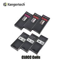 Wholesale kangertech replacement coils - Authentic Kanger CLOCC Replacement Coils Ni200 TC 0.15ohm SS316L 0.5ohm 1.0 1.5ohm Coil Head For Kangertech CLTANK