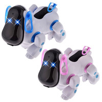 Wholesale Electronic Puppy - Electronic Dog Toy Lovely Robotic Intelligent Walking Dog Toys Children Friend Partner Electronic Pets Puppy Toys Gift