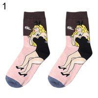 Wholesale Famous Art Collections - Wholesale-Warm Unisex Retro Abstract Art Famous Collection Painting Casual Cotton Ankle Socks 8IJM