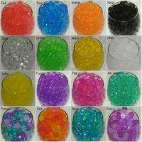 chargeurs de vases d'eau achat en gros de-17 couleurs pour le choix de U! 20 PACKS sol cristal perles d'eau croissant magie boules de gel bio gel mariage casamento vase remplisseurs orbiz
