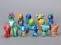 Wholesale slugterra toys online - 16pcs Slugterra Slug Terra Elemental Mini Action Figure Doll Toy Decoration
