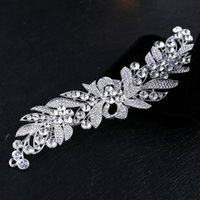 Wholesale Elegant Hair Flowers - 2017 Real New Elegant Fashion Austrian Crystal Flower Bridal Hair Comb Tiara Pin Clip Womens Accessories Free Shipping Hot Sale