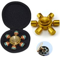 Wholesale Metal Carrying - Metal EDC Hand Spinner 6 Spins Fidget Spinner Fingertips Spiral Finger Toys For Decompression Anxiety with Zipper Carry Bag