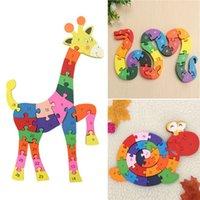 Wholesale Number Blocks Children - Educational Toy Kids Child Snake Shape Wooden Block Toys Alphabet Number Building Jigsaw Puzzle