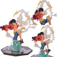 ingrosso figure di animazione-2017 One Piece Action Figure Fighting Rufy Anime Animazione PVC Figure collezione Display Modello Giocattoli 16cm con scatola