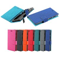 Universal Cell Phone Folio Canvas Wallet Case com Silicone Soft Cover 6 Tamanho diferente 3.5