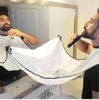 Wholesale New Beard Styles - New arrival Man Bathroom Beard Care Trimmer Hair Shave Apron Gown Robe Sink Styles Tool Bathroom Apron Waterproof Floral Bib Cloth