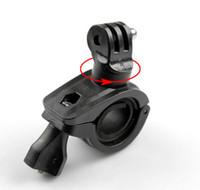 ingrosso manubri moto nero-Per Gopro Accessori 360 gradi di rotazione bici bicicletta moto manubrio maniglia bar staffa di montaggio del supporto per gopro hero 5 nero 3 4 sjcam