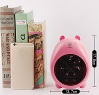 Wholesale Personal Electric Fans - Mini Electric Fan Heaters Warm Air Blower Personal Heater 4 colors Cartoon pig Miniature heater Home Office supplies Christmas Gifts DHL