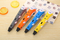 Wholesale 3d Printers Wholesale - Christmas Birthday gift Creative 3D Pen DIY 3D Printer Pen Drawing Pen Printing Best for Kids Gift with ABS Filament 1.75mm