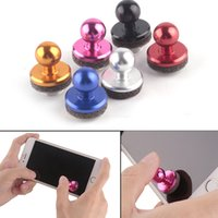 Wholesale Ipad Joystick Games - Mini Tactile Game Controller Mini Joystick for IPhone iPad touch Samsung Android Device Cellphone Roker Sucker 3003132