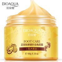 Wholesale wholesale foot cream - BIOAQUA Foot massage frosted scrub feet membrane membrane foot care Feet cream Beauty Health Feet foot mask Free Shipping