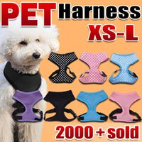 Wholesale Puppy Breathing - Pet Dog Cat Puppy Soft Leash VEST Mesh Breathe Adjustable Harness Braces Clothes