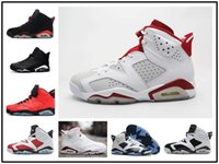 Wholesale Old Pvc Women - 2017 New Mens Jump men re-old 6 XI Basketball Shoes Women Athletic Sport Shoes re-old 6s Infrared Retro Sneakers Red Size 36-47