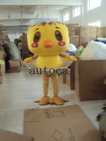 personagens de desenhos animados amarelos venda por atacado-Little yellow chicken Plush Personagem Dos Desenhos Animados do Traje da mascote Personalizado Produtos personalizados Atacado FRETE GRÁTIS