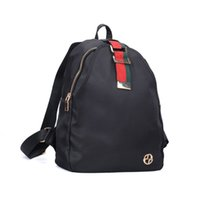 Wholesale Canvas School Bag Pack - 2017 Casual Sport Outdoor Packs Backpack Women Red Green Stripes Unisex Plain Zipper Light Nylon Canvas Fashion School Shopping Bag VK5279