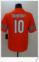 New Chicago # 10 Mitchell Trubisky American College Football Stitched Shirts Uniformes Embroidery Elite Hommes Pro Sports Jerseys pas cher à vendre