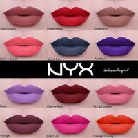 Wholesale nyx suede matte lipstick for sale - Group buy BRAND NEW SEALED NYX LIQUID SUEDE CREAM MATTE LIPSTICK COLORS long lasting waterproof NYX lip gloss DHL