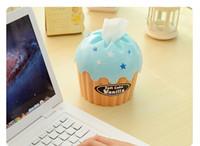 Wholesale Tissue Box Cream - Wholesale- Fashion Creative Ice Cream Tissue Box Holder for House & Car Cupcake Napkin Box