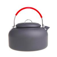 Wholesale Outdoor Coffee Pot - 1.4L Alocs Aluminum CW-K03 Outdoor Kettle Camping Picnic Water Teapot Coffee Pot
