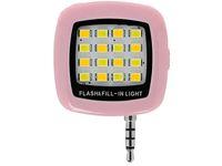 anillo de bombilla de flash al por mayor-Universal Cell Phone Flash LED Mini Spotlight Ring Iluminación de relleno Bombilla de la lámpara de la cámara con 3.5MM Jack para mejores fotos Video In Dark