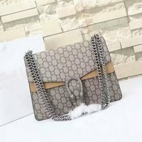 Wholesale Ladies Bags Chains - New style 30cm GG Brand Ladies Bag Leather Womens Handbag Luxury Brand Name Women Bag High Quality Real Leather Shoulder Bag leather purse
