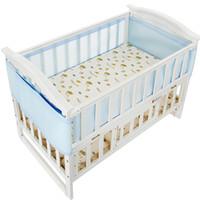 bebek mavi beşik yatak takımları toptan satış-Yaz 3D Nefes Bebek Yatak Tamponlar Mesh Beşik Tampon Bebek Uyku Seti Pembe Mavi Bebek Koruyucu Beşik Surround Tampon