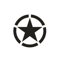 Wholesale decal auto - 1pc Off-Road Vehicle JEEP Wrangler Reflective Car Paste 10cm*10cm Five-Pointed Star Pattern Car Paste Vehicle Decal Auto Paste