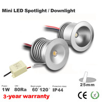 Wholesale 277v Led Spot Lights - 1W 85-277V input led spot light 1W led cabinet light 25mm cutout small size 60D 120D degreee Mini Led Spot Downlight