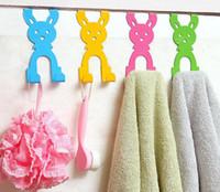 ingrosso appendiabiti per porta-Animal Rabbit Hook for Clothes Creative Door Hanger Home Organizzazione per cappello Cartoon Ganci per la sciarpa di Natale Decorazione della casa