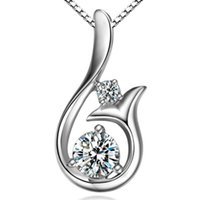 Hot Sale Coréia Acessórios Colar Swiss Zircon Mermaid Pendant Feminino Short Clavicle Chain Silver Color Jewelry Accessory Wholesale