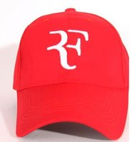 Wholesale federer cap resale online - High quality men and women general Federer tennis guru hat cotton cap sports soccer basketball baseball cap Sun hat