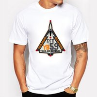 Wholesale Delta Wing - Air Defense Delta Wing Cool Design male T-shirt New summer cotton short-sleeved T-shirt men