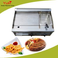 Wholesale Fryer Machine - Gas Griddle with Fryer Commercial Gas Griddle Stainless Steel Deep Fryer Gas Potato Chips Fryer Machine