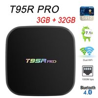 Wholesale t95r pro - T95R PRO GB GB Amlogic S912 Octa Core Android TV Box WiFi GHz GHz Bluetooth Set Top Box