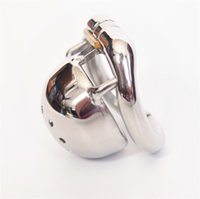 Wholesale Small Chastity Device Stainless - 40mm Super short metal cock cage 304# stainless steel small male chastity cage new chastity devices for men