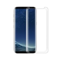 Wholesale Clear Glasses Case - Case Friendly Tempered Glass 3D Curved Full Coverage For Galaxy S7 Edge S8 S8 Plus Colorful And Full Clear Transparent