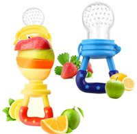 Wholesale Baby Weaning - Kids Nipple Fresh Food Feeding Pacifier Baby Fresh Food Fruits Soup Feeder Dummy Soother Weaning Nipple